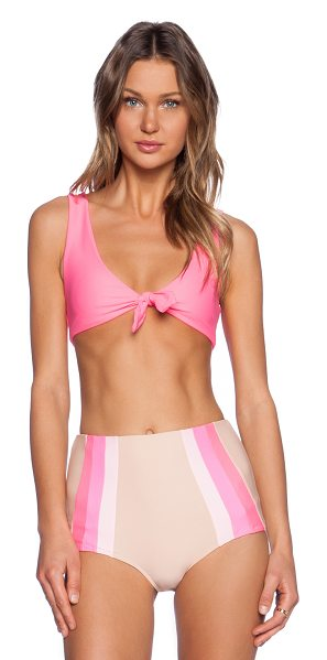 Lolli Lemons bikini top in pink - 80% nylon 20% spandex. Hand wash cold. Front and back...