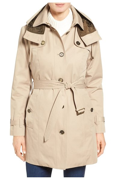 London Fog single breasted trench coat in beige