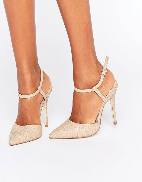 "London Rebel 2 Part Pumps in beige - """"Shoes by {BrandLink}, Faux-leather upper, Snakeskin..."