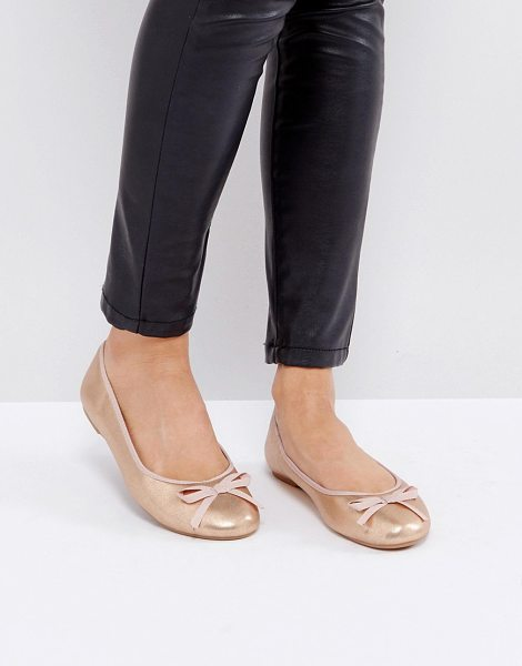 LONDON REBEL Ballet Flats - Shoes by London Rebel, Faux-leather upper, Metallic finish,...