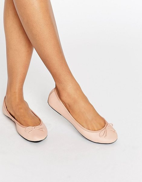 London Rebel Leather Ballerina in beige - Shoes by London Rebel, Leather upper, Slip-on style,...