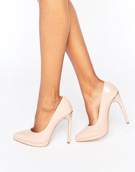 London Rebel Platform Pumps in beige - Shoes by London Rebel, Faux-leather upper, Patent...