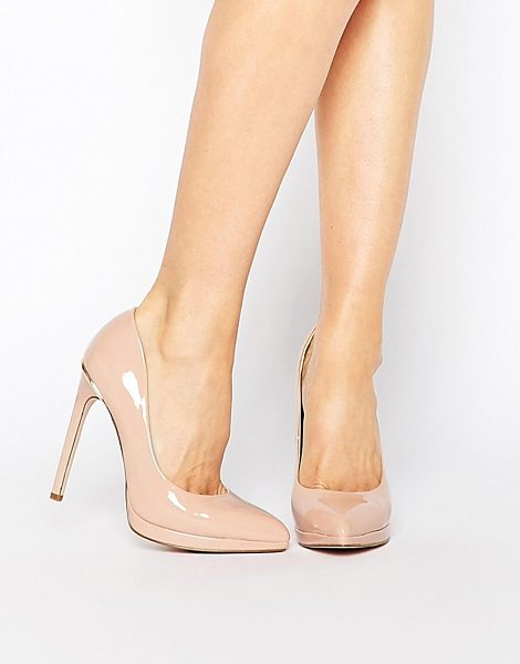 LONDON REBEL Platform Pumps - Shoes by London Rebel, Patent, leather-look upper,...