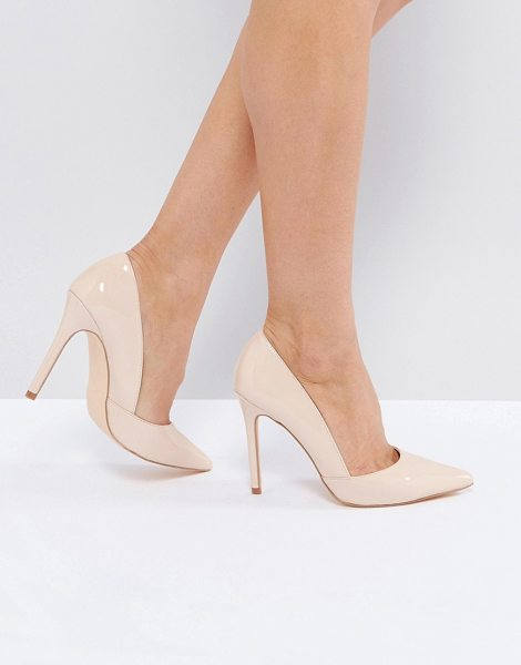 """LONDON REBEL Point High Heels in beige - """"""""Shoes by London Rebel, Faux-leather upper, Pointed..."""