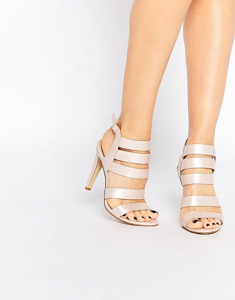 London Rebel Strappy heeled sandals in pink - Shoes by London Rebel, Leather-look fabric, Strappy...