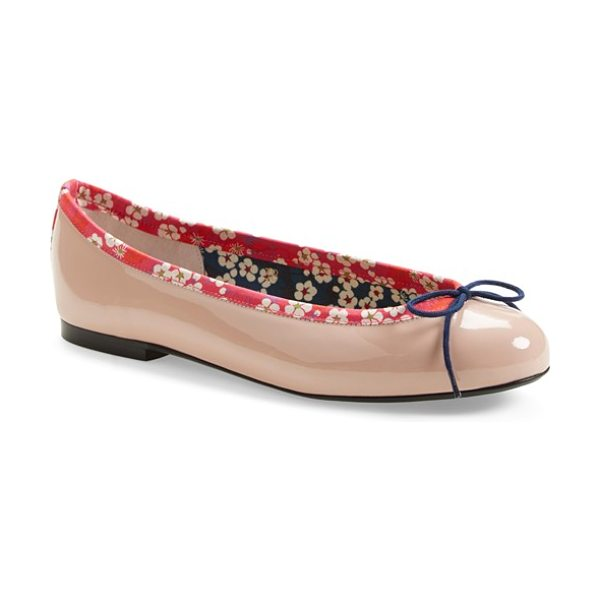 London Sole liberty print ballet flat in nude - In an exclusive collaboration with Liberty of London,...