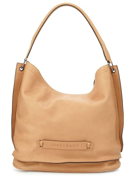 LONGCHAMP 3d leather hobo bag - Longchamp calfskin hobo bag with gunmetal hardware....