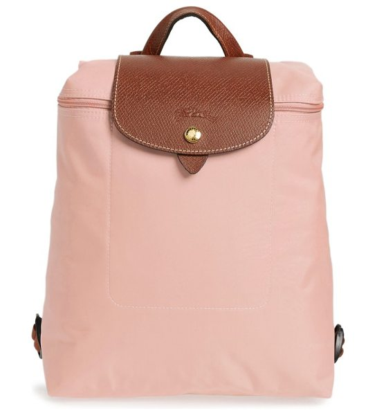 Longchamp 'le pliage' backpack in pinky