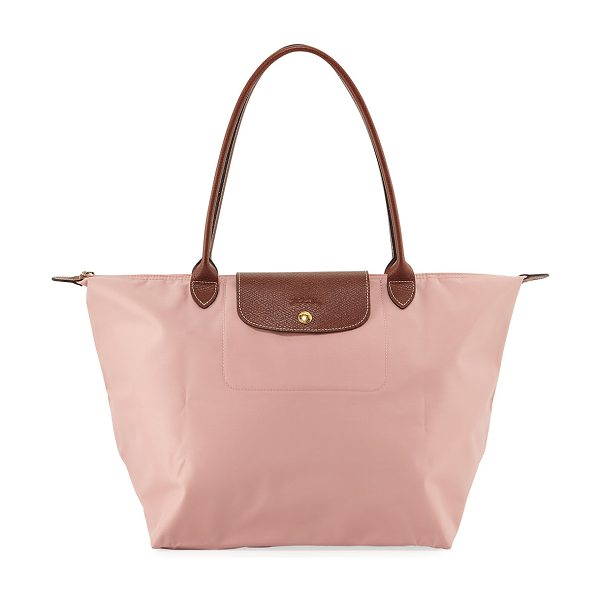 Longchamp Le Pliage Large Shoulder Tote Bag in pinky - Longchamp tote in durable, lightweight nylon. Embossed...