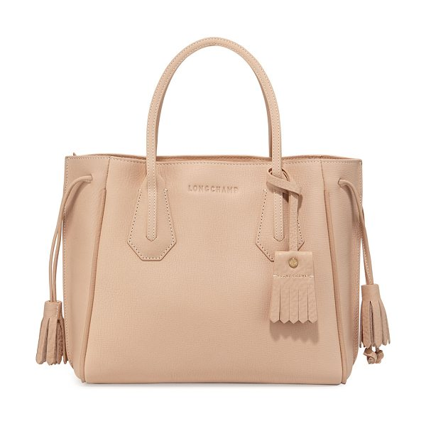 LONGCHAMP Penelope small tote bag - Longchamp pebbled leather shoulder bag. Rolled top...