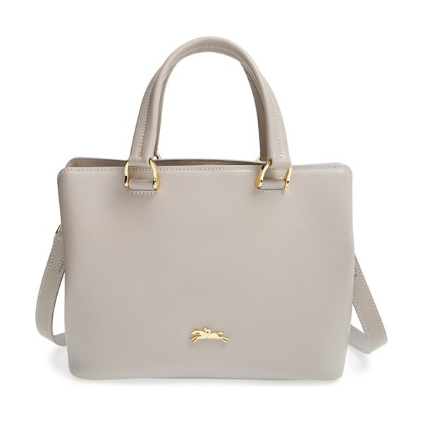 Longchamp Small honore 404 leather tote in clay