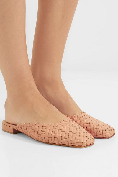 LOQ galia woven leather slippers in neutral