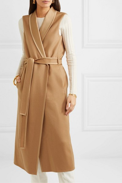 Loro Piana belted cashmere coat in sand