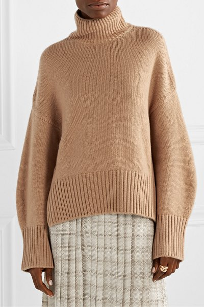 Loro Piana cashmere turtleneck sweater in tan