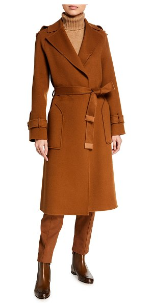 Loro Piana Cashmere Wrapped Trench Coat in camel