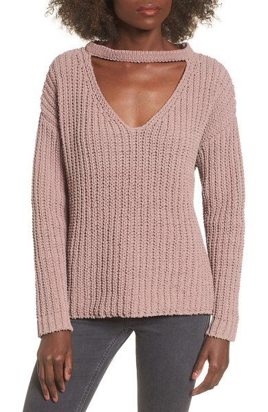 LOST AND WANDER mary lous choker sweater - A trend-right choker collar turns up the edge on this...