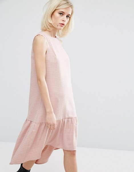 """Lost Ink Chequered Dress With Dropped Waist in pink - """"""""Dress by Lost Ink, Printed woven fabric, Soft-touch..."""
