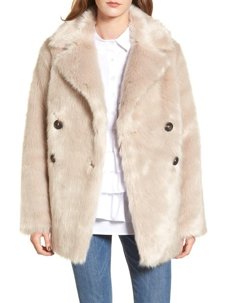 Lost Ink faux fur coat in cream - As soft as your favorite teddy bear, this...