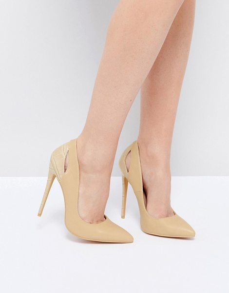 "Lost Ink Pumps in beige - """"Heels by Lost Ink, Faux-leather upper, Faux-snake..."