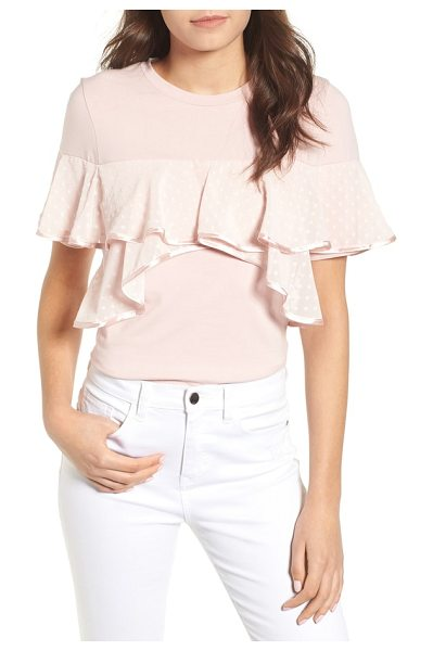 Lost Ink ruffle tee in blush