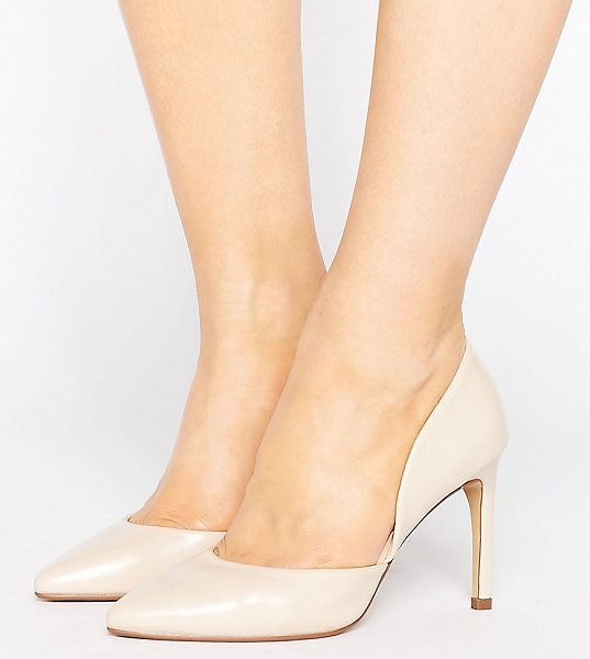 "Lost Ink Wide Fit Cut Out Nude Pumps in beige - """"Heels by Lost Ink. Wide Fit, Faux-leather upper, Part..."