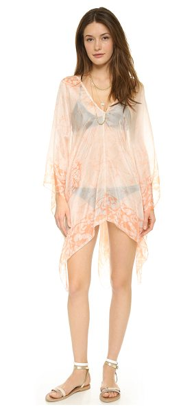 Lotta Stensson Batik petite poncho in powder - A feather light Lotta Stensson cover up in fine silk,...