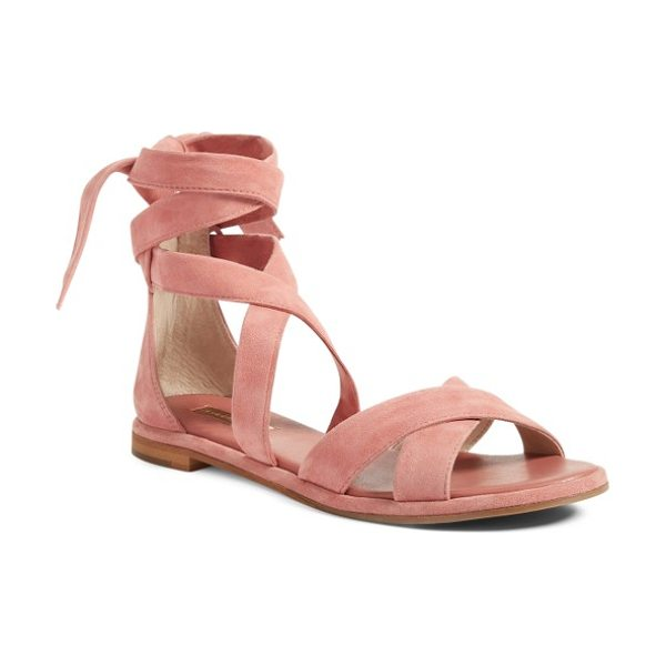 LOUISE ET CIE clover sandal - Lush suede straps can be wrapped around your ankle or...