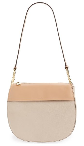 Louise et Cie Fae shoulder bag in french pink - Clean equestrian-inspired curves add a vintage flourish...