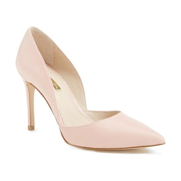 Louise et Cie hermosah pump in tan leather - A sophisticated d'Orsay pump with contrasting textures...
