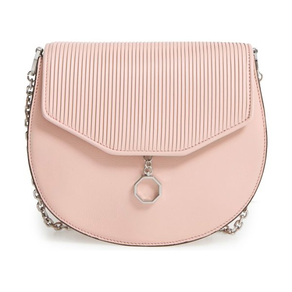 LOUISE ET CIE jael leather crossbody bag - Pebbled leather perfectly juxtaposes the smooth flap on...
