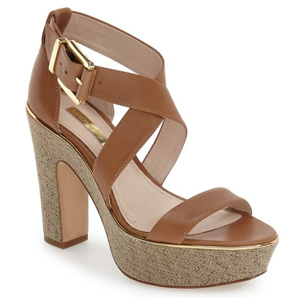 Louise et Cie jazmin platform sandal in desert leather - Buttery-soft suede extends the retro appeal of a chic...