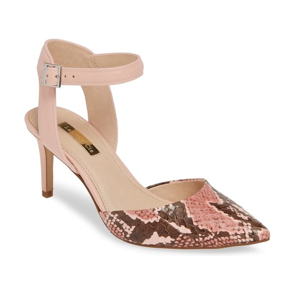 Louise et Cie kota ankle strap pump in pink