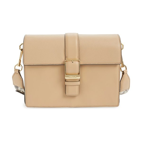 LOUISE ET CIE Lowe leather satchel - Smooth leather perfectly juxtaposes the exotically...