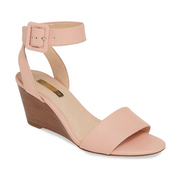 Louise et Cie punya wedge sandal in pink - A tonal covered wedge lifts a streamlined, eye-catching...