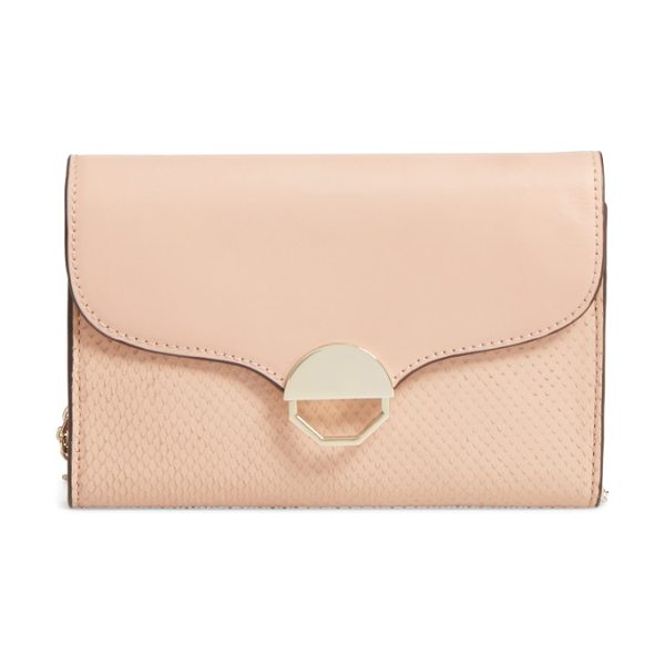 Louise et Cie sonye small crossbody bag in ballet slipper - Signature octagonal half-moon hardware balances the...
