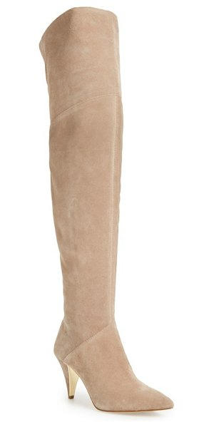 LOUISE ET CIE 'willess' over the knee boot in neutralle suede - A stunning over-the-knee profile makes this...