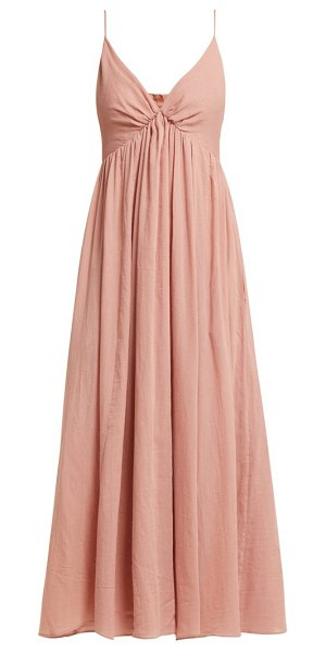 Loup Charmant adelaide cotton midi dress in pink