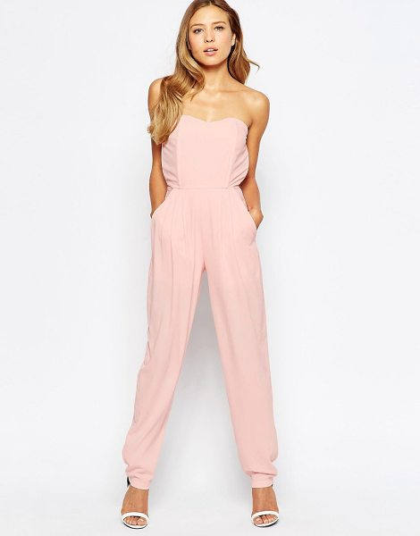 LOVE Bandeau jumpsuit - Jumpsuit by Love Smooth woven fabric Bandeau neckline...