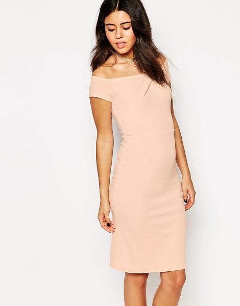 LOVE Bardot midi dress with pleat front - Midi dress by Love Made in Britain Lightweight, stretch...