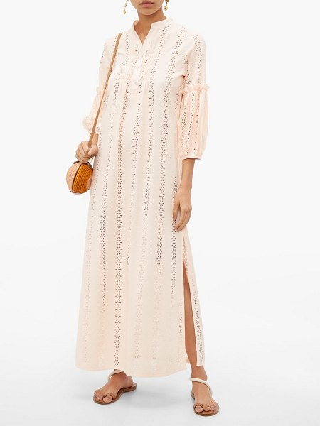 Love Binetti high neck cut out cotton tunic in light pink