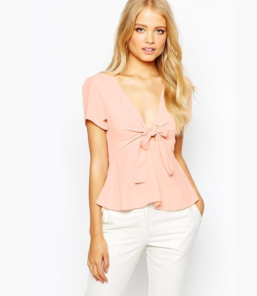 Love Bow front top in blush - Top by Love Semi-sheer finish Lightweight design...