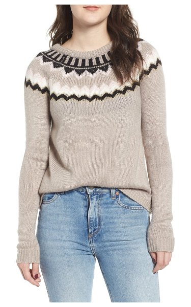 Love By Design fair isle sweater in beige - The classic Fair Isle design on this cozy sweater...