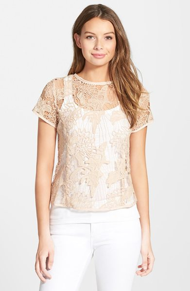 LOVE FATE DESTINY back zip lace top - Princess seams define the structured fit of a delicate...