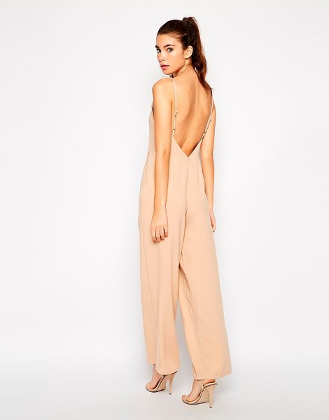 LOVE High neck jumpsuit with low back - Jumpsuit by Love Textured, woven fabric Square neckline...