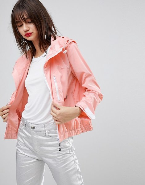 Love Moschino A-Line Wind Jacket in pink - Jacket by Love Moschino, Adjustable hood, Zip placket,...