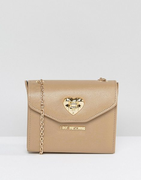 """Love Moschino Cross Body Bag in beige - """"""""Cart by Love Moschino, Faux leather outer, Contrast..."""