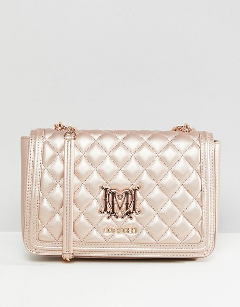 LOVE MOSCHINO Quilted Shoulder Bag - Cart by Love Moschino, Quilted finish, Flap top with...