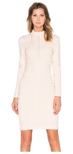 Love Moschino Seamed dress in blush - 69% viscose 25% polyamide 6% elastane. Dry clean only....