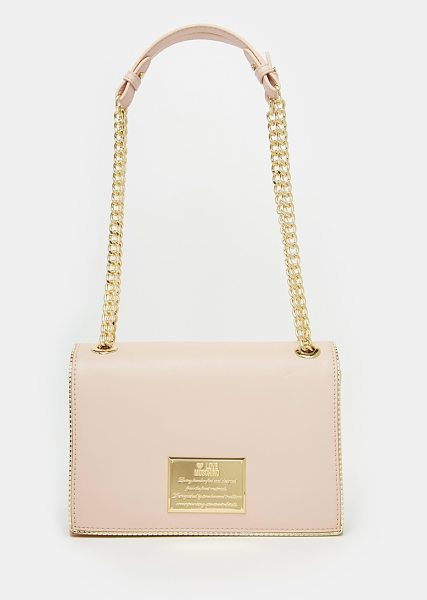Love Moschino Shoulder bag with chain strap in 600 pale pink - Cart by Love Moschino Smooth, faux-leather outer...