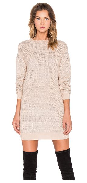 Love Moschino Sweater dress in blush - 38% acrylic 37% wool 25% poly. Hand wash cold. Unlined....